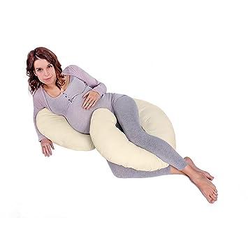 LULANDO Almohada Para Las Mujeres Embarazadas Para Lactación Para Dormir Descansar Jugar, Farbe:Ecru