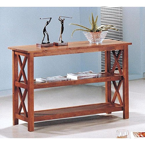 CDecor Silverado Sofa Table Antique Oak Oak Finish