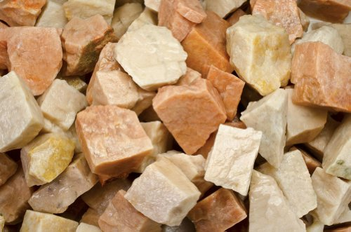 - Fantasia Materials: 1 lb Tan/Orange Moonstone Rough - (Select 1 to 18 lbs) - Raw Natural Crystals for Cabbing, Cutting, Lapidary, Tumbling, Polishing, Wire Wrapping, Wicca and Reiki Crystal Healing