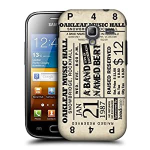 Head Case Designs A Band Named Bert Tickets Protective Snap-on Hard Back Case Cover for Samsung Galaxy Ace 2 I8160 by icecream design