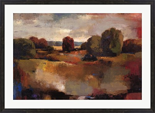 (Field Study II by Petkov Joro Framed Art Print Wall Picture, Espresso Brown Frame, 43 x 31 inches)