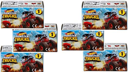Hot Wheels Monster Truck Minis Blind with Key Launcher Box Series 1 (Set of 6)