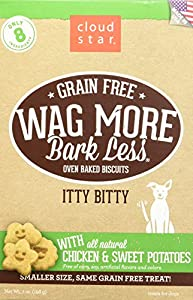 chic Cloud Star Wag More Oven Baked Grain Free Biscuits - 7 ounce Itty Bitty Chicken, Sweet Potato