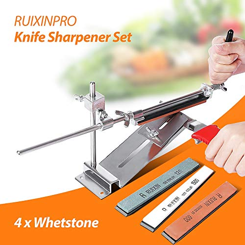 (Best Quality - Sharpeners - Knife Sharpener Ruixin Pro III All Iron Steel Professional Chef Knife Sharpener Kitchen Sharpening System Fix-angle 4 Whetston - by HURA - 1)