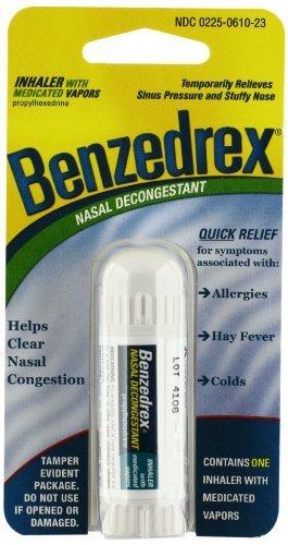 Benzedrex Inhaler Propylhexedrine Nasal Decongestant