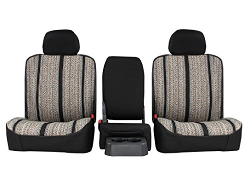 Front Seats: ShearComfort Custom Saddle Blanket Seat Covers for Ford F250/F350/F450/F550 Regular or Crew Cab (2001-2007) in Black for 40/20/40 High Back w/Folddown Centre Storage Console w/Dual.