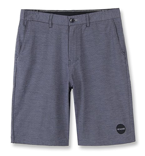HETHCODE Men's Casual Classic Fit Hybrid Submersible Chino Walk Shorts Slate Navy 33 (Mesh Fly Faux)