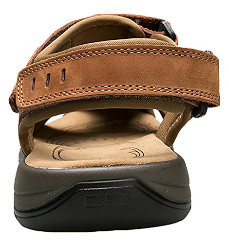 AGOWOO Sandles Outdoor Closed Toe Beach Hiking Sandals For Women Shallow_brown dZusM7