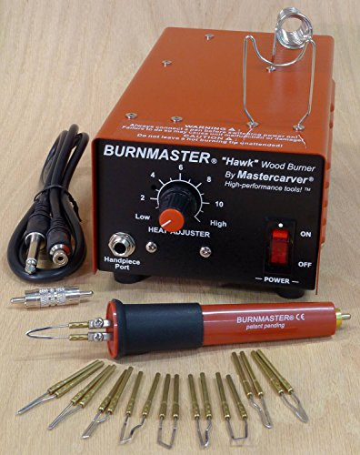 Burnmaster HAWK single port woodburner PACKAGE - burner + pen + tips (110V) by Burnmaster
