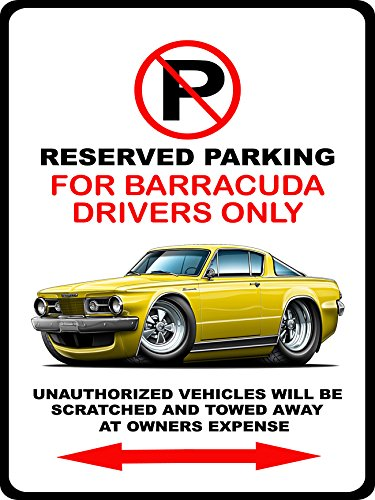 1964-65-plymouth-barracuda-muscle-car-toon-no-parking-sign