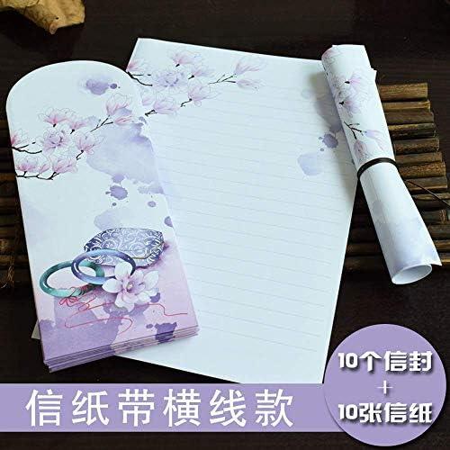 SY-shop Briefumschlagset Literarische Kleine Frische Retro Windumschlag Kann Liebesbuch Liebe Kreatives Romantisches Briefpapier