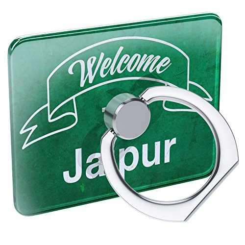 - Cell Phone Ring Holder Green Sign Welcome to Jaipur Collapsible Grip & Stand Neonblond