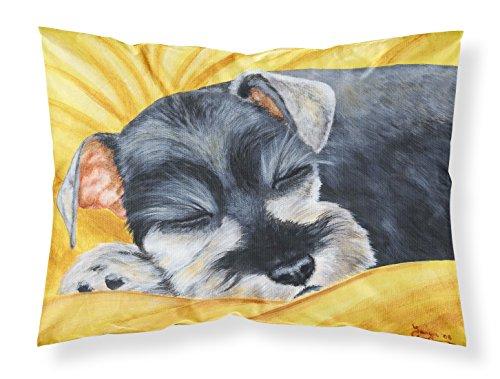 (Caroline's Treasures Snoozing Schnauzer Fabric Standard Pillowcase AMB1161PILLOWCASE)