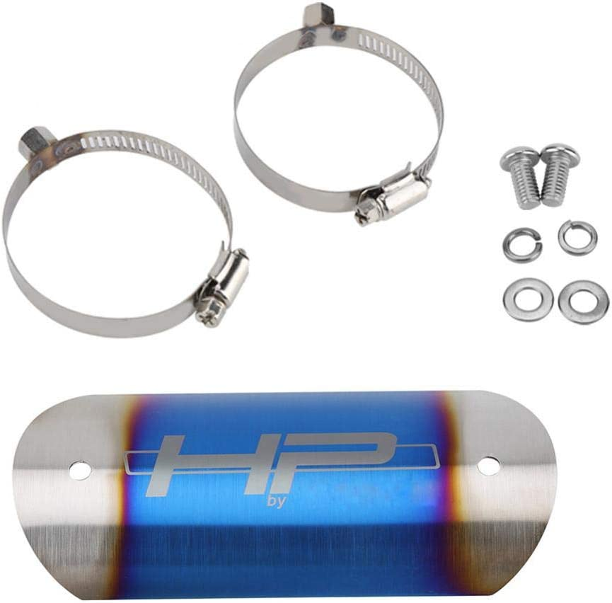 Cuque Motorcycle Exhaust Middle Pipe Heat Shield Stainless Steel Link Tube Protector Cover Heel Guard Assembly #4