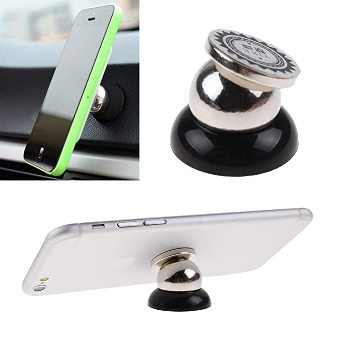 Amazon.com: Universal Magnetic Car Cell Phone Holder Mount Dash 360° Rotating Black Soporte para Celulares Coche: Cell Phones & Accessories