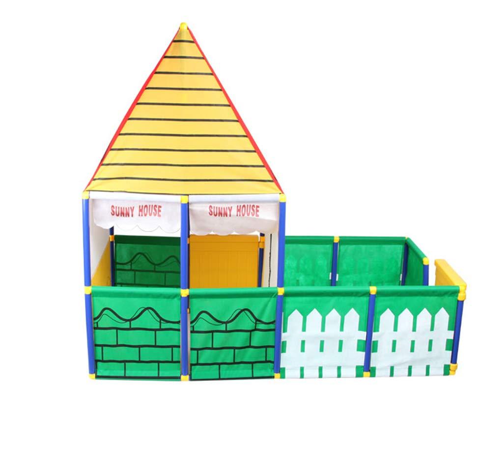 Zhao Indoor Spielzeugraum, Kind Bunte Spiel Schloss Outdoor Große Garten Kombinationszelt 155  80  145 cm