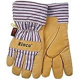 X-Large Kinco International 1927-XL-6PK Palomino Kinco 1927 Thermal Heatkeep Lined Grain Pigskin Leather Glove Work Pack of 6 Pairs