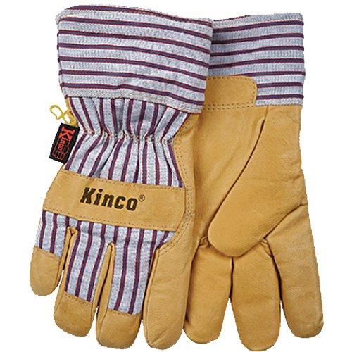 - KINCO 1927-XXL Men's Lined Grain Pigskin Gloves, Heat Keep Lining, XX-Large, Golden