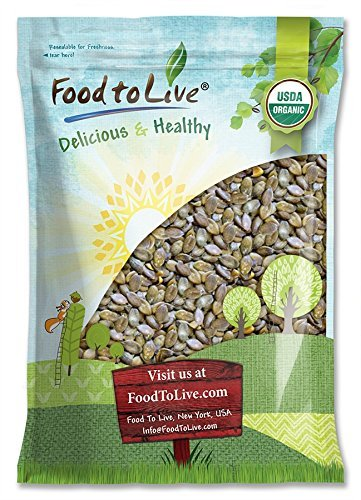Organic Dry Roasted Pumpkin Seeds with Sea Salt, 8 Pounds - Non-GMO Kernels, Pepitas, Kosher, Vegan, No Shell, Healthy Snack, Bulk