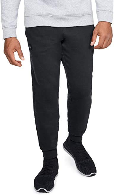 Under Armour UA Rival Fleece Tapered Leg Charcoal Gray Heather Jogger Pants