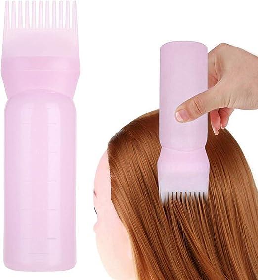 Botella de frotis para el cabello - Aplicador de peine de tinte para el cabello con champú - Herramientas esenciales para el tinte de cabello - ...