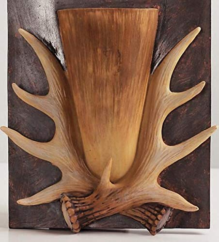 (Fotcus - Vintage staghorns muons decoration american antlers wall home decoration - (Color: A))