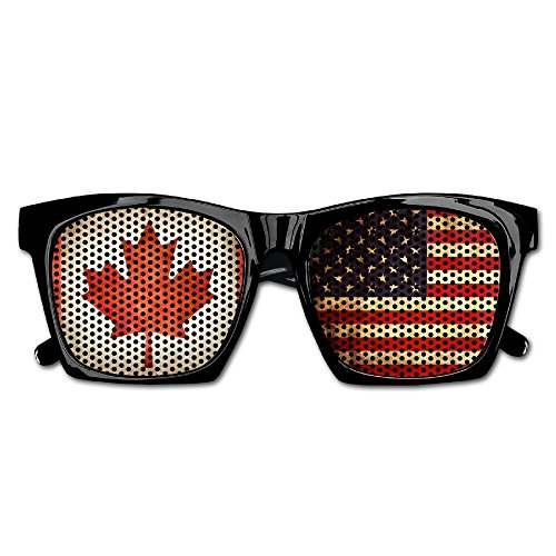 Elephant AN Themed Novelty Usa Canada Flag Decoration Visual Mesh Sunglasses Fun Props Party Favors Gift - Glasses Usa Canada