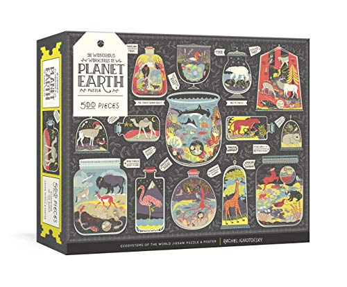 The Wondrous Workings of Planet Earth Puzzle: Ecosystems of the World 500-Piece Jigsaw Puzzle and Poster