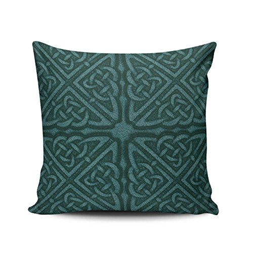 SALLEING Custom Fashion Home Decor Pillowcase Teal Large Celtic Euro Square Throw Pillow Cover Cushion Case 26x26 Inches One Sided Print