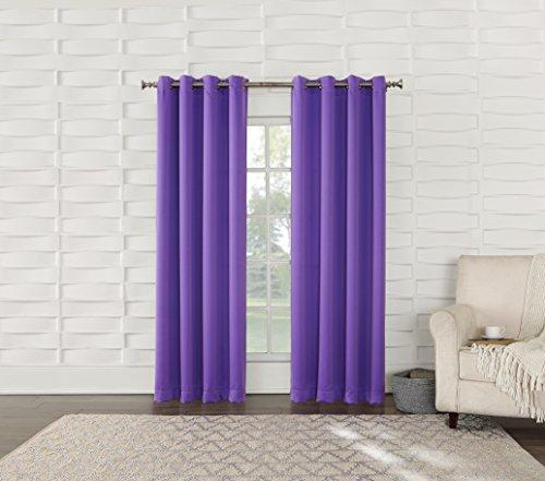 "Sun Zero Barrow Energy Efficient Grommet Curtain Panel, 54"""