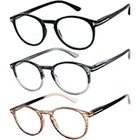 Reading Glasses Set of 3 Great Value Quality Fashion Readers Spring Hinge Glasses for Reading Men and Women