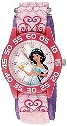 Disney Kids' W002381 Jasmine Watch with Pink Printed Nylon Band