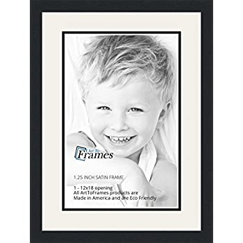 art to frames double multimat 647 6189 frbw26079 collage photo frame double mat with 1 12x18 openings and satin black frame