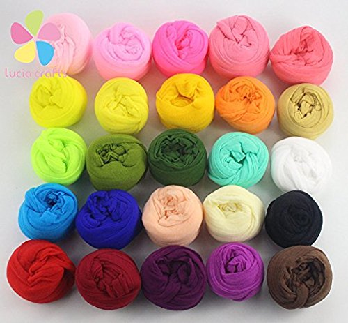 2.5m nylon stocking flower material handmade accessory (20colors/pack 1pc/color) (Mixed colors 1)