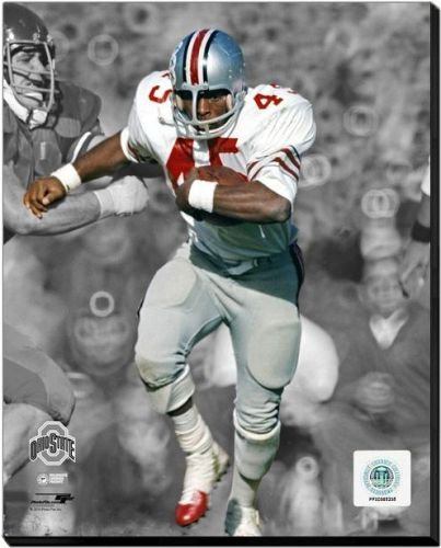 Ohio State Buckeyes Archie Griffin - 1973 Ohio State University Spotlight Action 20x24 Stretched Canvas by Biggsports