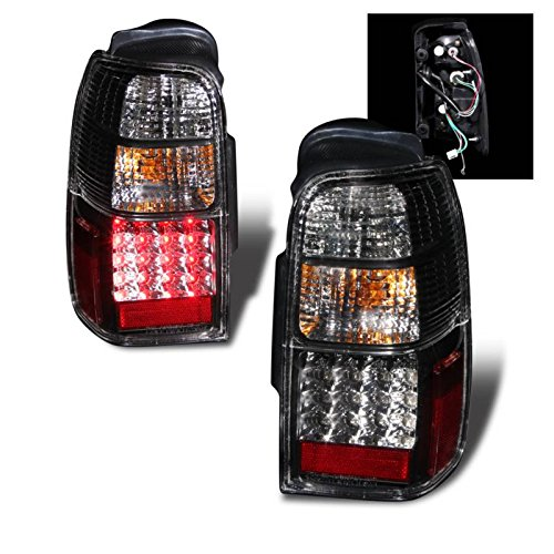 SPPC Black LED Tail Lights Assembly Set For Toyota 4 Runner - (Pair) Driver Left and Passenger Right Side Replacement ()