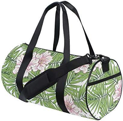 ボストンバッグ アロハ ハワイのヤシの葉 花柄 ジムバッグ ガーメントバッグ メンズ 大容量 防水 バッグ ビジネス コンパクト スーツバッグ ダッフルバッグ 出張 旅行 キャリーオンバッグ 2WAY 男女兼用