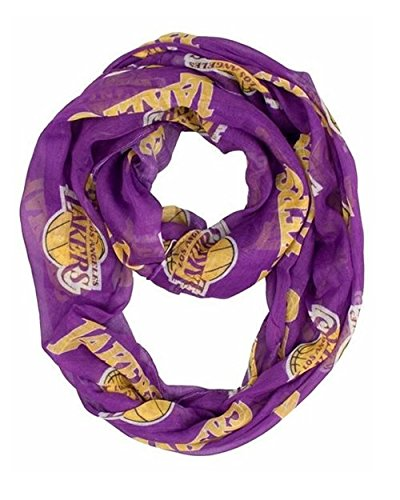 Los Angeles Lakers Little Earth Productions Sheer Infinity Scarf Purple from Littlearth