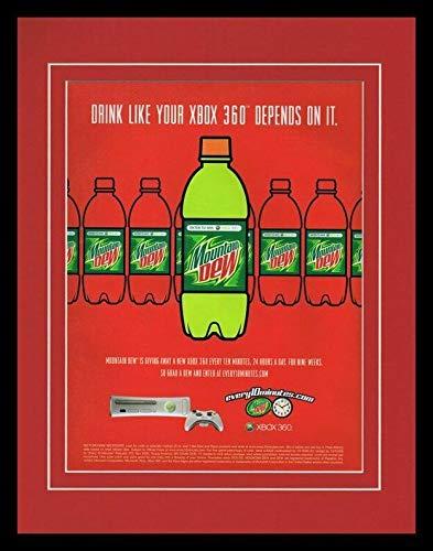 2005 Mountain Dew/Xbox Framed 11x14 ORIGINAL Vintage Advertisement