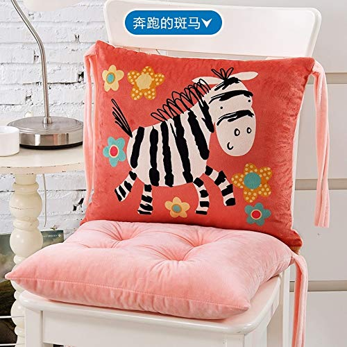 Zebra Newsboy - Cartoon Siamese Cushion Cushions Back one Office Computer Chair Cushion Thickening Student Cushion pad Ass (Zebra Running