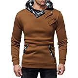 POHOK Clearance Deals ! Men's Autumn Winter Casual Camouflage Zipper Slim Long Sleeve Hoodie Top Blouse