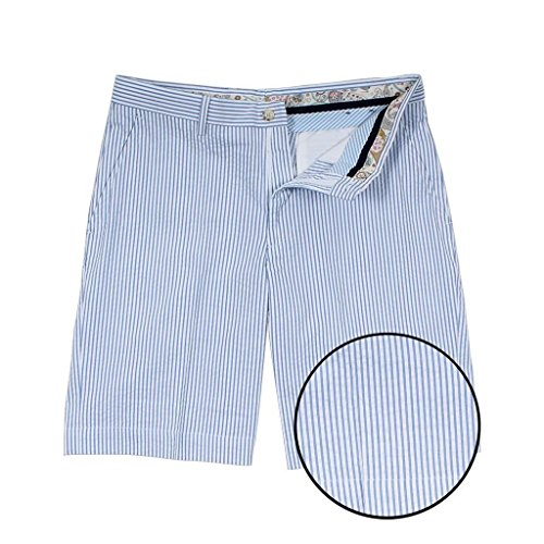 Prep Seersucker - Country Club Prep Blue Seersucker Shorts
