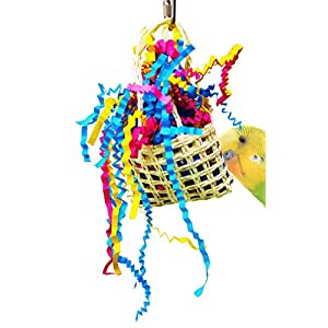 1007 Goody Bag Bird Toy Parrot Cage Toys Cages Cockatiel Parakeet Conure Lovebird. Quality Product Hand Made in The USA. 63
