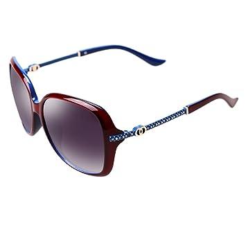Sonnenbrillen Elegante große Rahmen-Gläser polarisierte Sonnenbrille-weibliche Mode (Farbe : Kaffee - farbe) U25xj