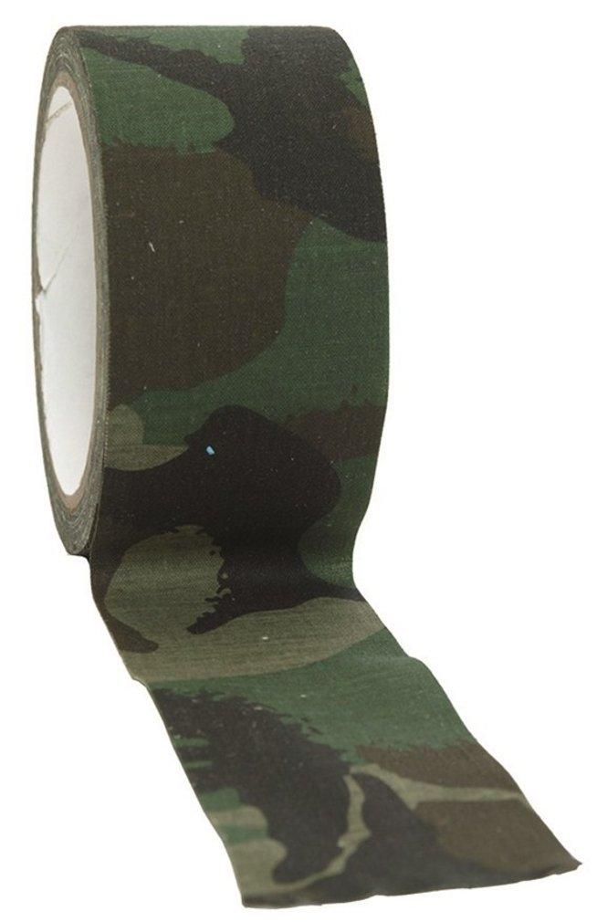 BANDE TISSU ADHESIF CAMO CAMOUFLAGE WOODLAND 5 CM X 10 M MILTEC 15934020 PROTECTION AIRSOFT Mil-Tec