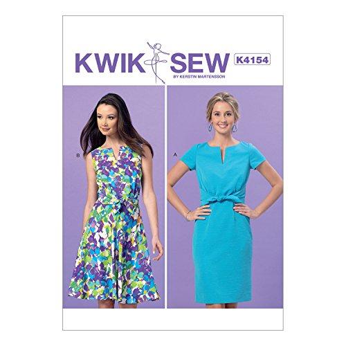 KWIK-SEW PATTERNS K4154 Misses' Tie-Front Dresses, All Sizes (Pattern Front Dress)