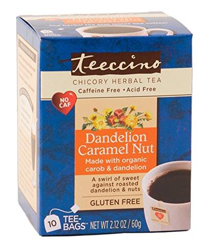 Teeccino Dandelion Caramel Chicory Caffeine