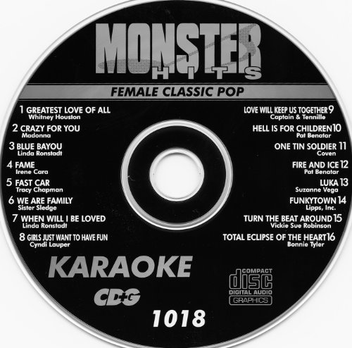 Monster Hits Karaoke CDG 1018 Female Classic ()