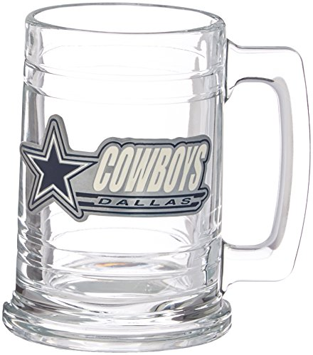 NFL Dallas Cowboys Two Piece 15-Ounce Glass Tankard Set