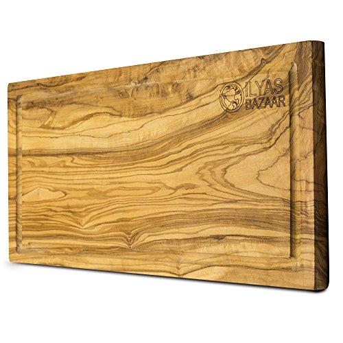 Reversible Presentation Board (Large Olive Wood Cutting Board - 16